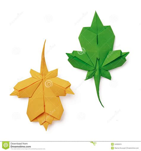 making origami leaves origami leaves stock image image of leaf canada yellow