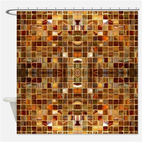 Mosaic Shower Curtains Mosaic Fabric Shower Curtain Liner