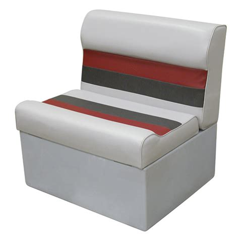 wise bench seat wise marine seating 27 quot bench seat gray red charcoal