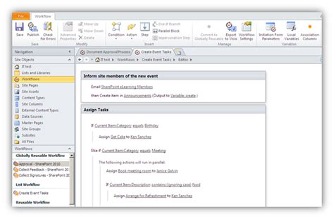 sharepoint 2010 workflows in workflow designer in sharepoint designer 2010 visualsp