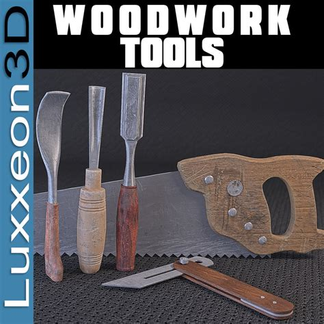 model woodworking tools tools woodworkers wood work 3d model