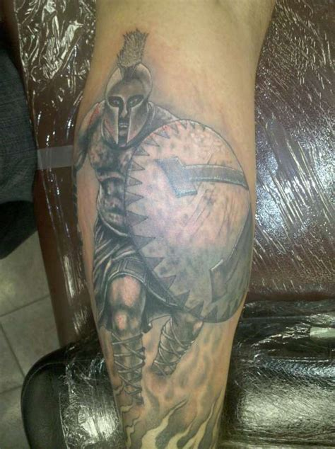 greek warrior tattoo spartan warrior on sleeve