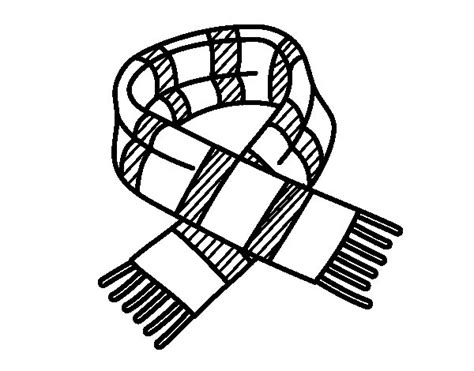 striped scarf coloring page coloringcrew com