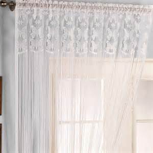 Curtain Tie Rhodes String Lace Panel Net Curtains Curtains