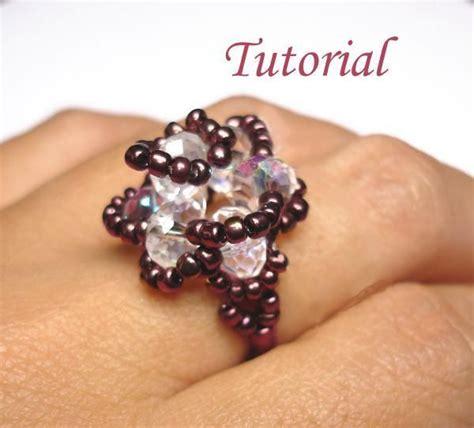 beaded rings tutorial 22 best vintage style bead rings images on