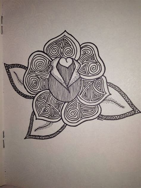 zentangle pattern rose rose doodle ren x zentangle flowers pinterest roses
