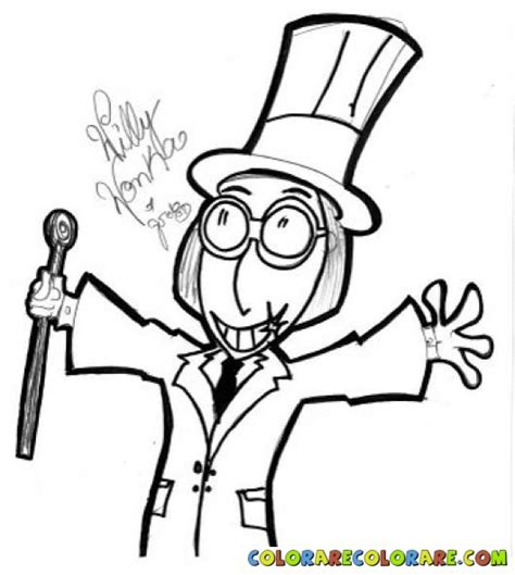 Dipinto Da Willy Wonka Coloring Page