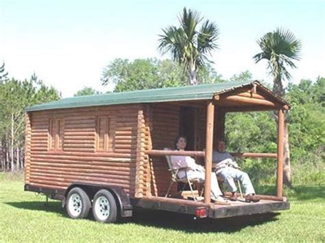 log cabin trailer cer concession stand real logs 6500