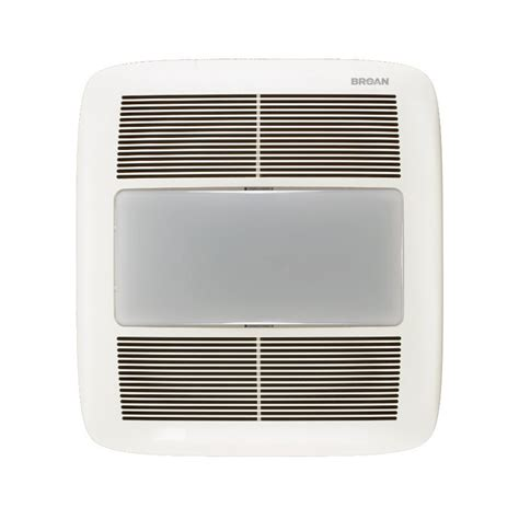 broan bathroom fan with light shop broan 1 5 sone 140 cfm white bathroom fan energy star