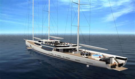 luxury sailboats 100m mega sailing yacht by design - Luxury Sailboats
