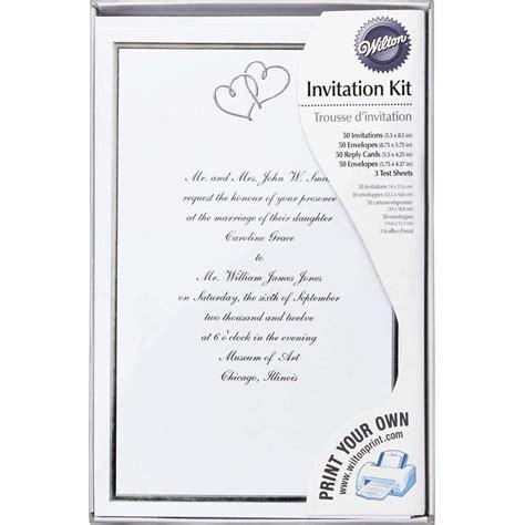 Wilton Wedding Invitation Templates by Sweet Hearts Wedding Invitation Kit Wilton