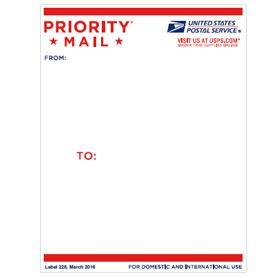 shipping address label template priority mail address label