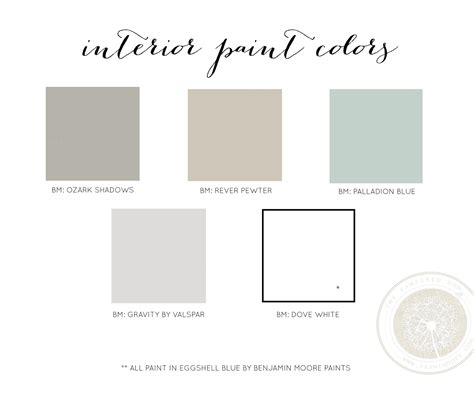 Benjamin Moore Colors In Valspar Paint | the pered mom interior paint colors