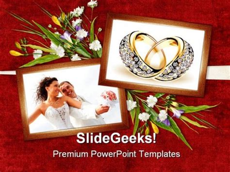 Card For Wedding Day Youth Powerpoint Templates And Powerpoint Backgrounds 0311 Microsoft Microsoft Powerpoint Templates Wedding