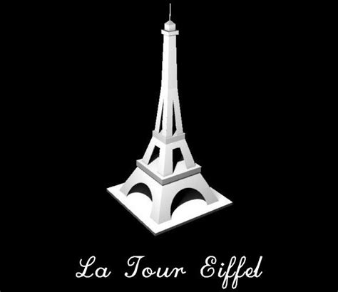 eiffel tower model template papercraftsquare new paper craft simple eiffel