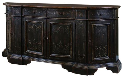 bedroom credenza hooker beladora serpentine credenza black traditional