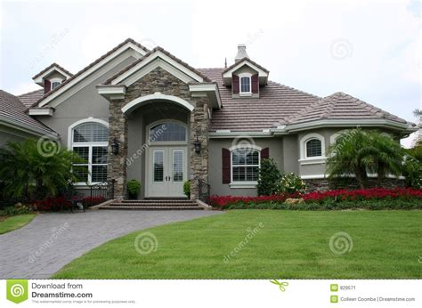 Free House Plans And Designs by English Style Estate Home Stock Image Image Of