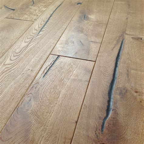 Distressed Engineered Flooring - loire distressed 20mm oak heavy brushed engineered