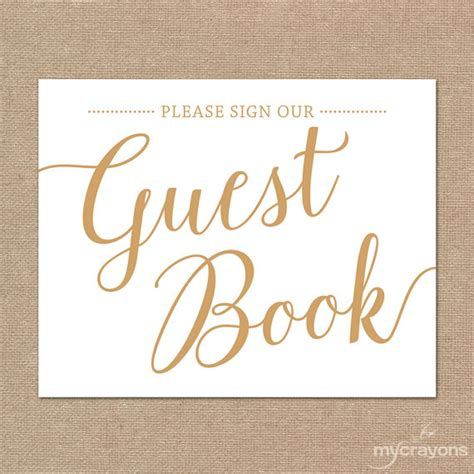 Sign In Book Wedding Sign Our Guestbook Sign Printable Guest Book Sign