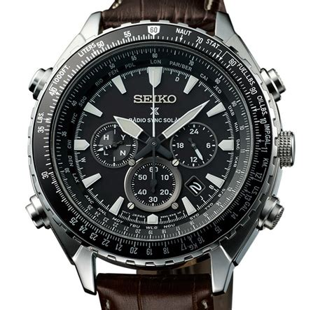 Seiko Prospex Sky Ssc611p1 Solar Chronograph Black Leather seiko prospex radio sync solar world time chronograph