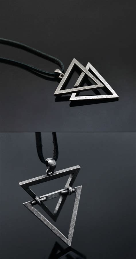 Metal Triangle Necklace accessories necklaces vintage metal triangle
