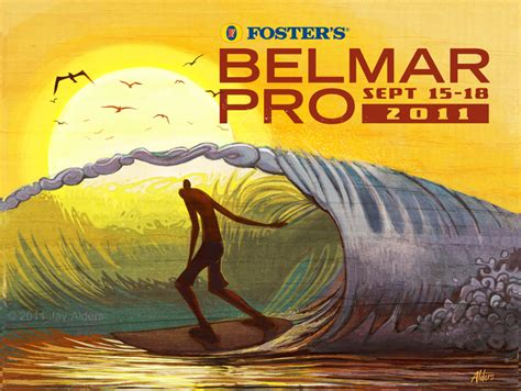 foster s belmar pro 2011 surf poster by jay alders the