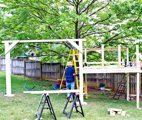 swing set builders our fifth house diy swing set playhouse