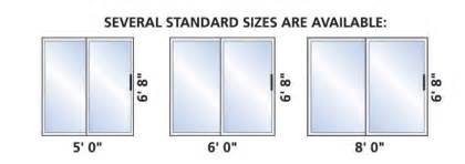 Sliding Glass Door Size Standard Sliding Doors Window Mart
