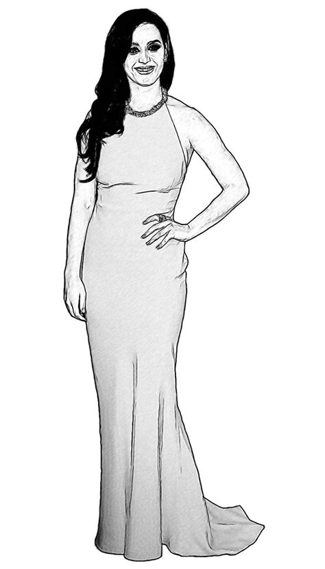 katy perry celebrity coloring page by dan newburn art