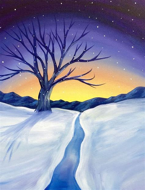 paint nite kanata fall paint nite winter sunset on nov 5 kanata hazeldean