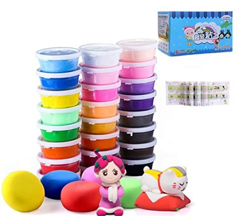 Review Nolita Molding Clay by Air Clay 24 Colors Ultra Light Modeling Clay Ifergoo