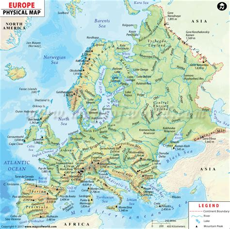 russia and europe physical map europe physical map physical map of europe