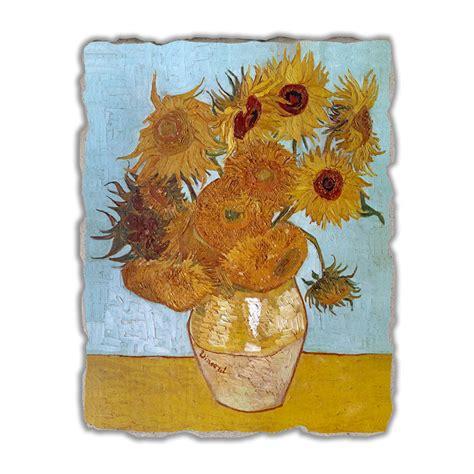 gogh vaso di girasoli affresco grande fatto a mano vincent gogh vaso di