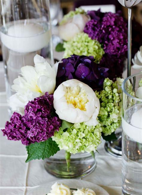 Hochzeitsdeko Flieder by Tischdeko Mit Hortensien Edle Hochzeitsdeko Mit Blumen