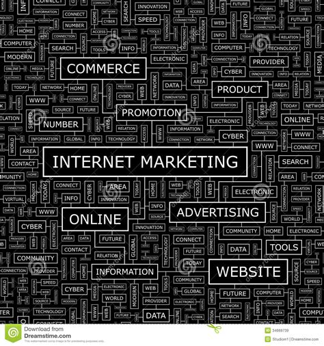 the pattern words internet marketing royalty free stock images image 34669739