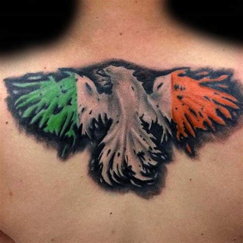 irish flag tattoo 70 tattoos for ireland inspired design ideas