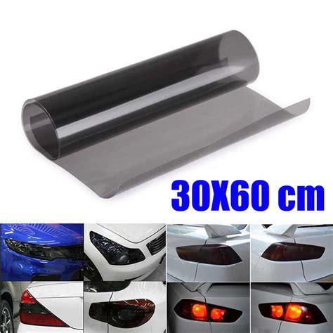 Kaos Cm 02 High Quality Lp quality 60cm x30cm smoke black car light headlights vinyl wrap sticker wrap ebay