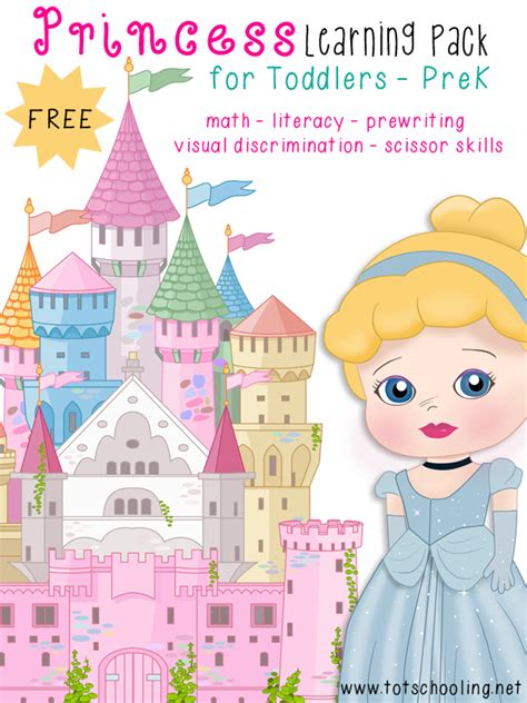 for preschoolers free princess learning pack for toddlers prek