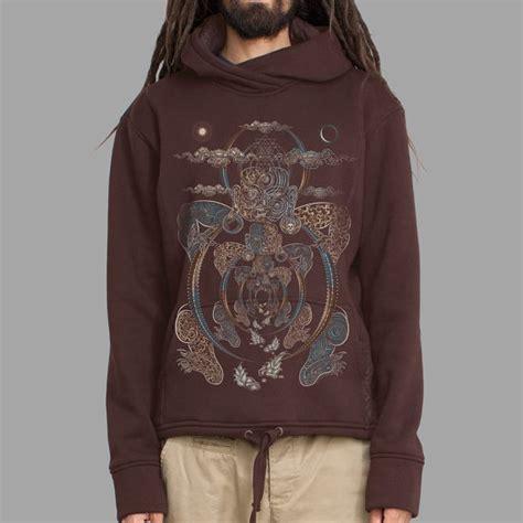 Zipper Hoodie Polygon Zero Clothing psychedelic sweatshirt sacred geometry hoodie glow in the