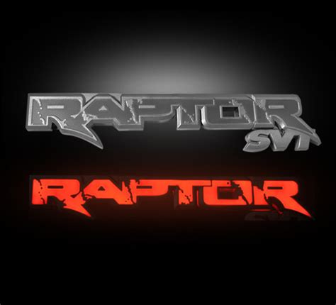 ford raptor logo ford raptor illuminated tailgate emblems