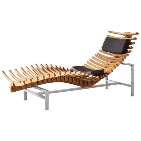 chaise longue for sale skeleton chaise longue in teak for sale at 1stdibs