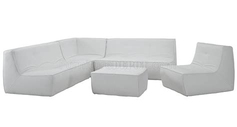 white bonded leather sofa set align 5pc sectional sofa set in white bonded leather by modway