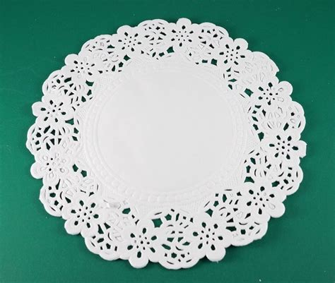 Lace Craft Paper - 6 5 quot white paper lace doily wedding card