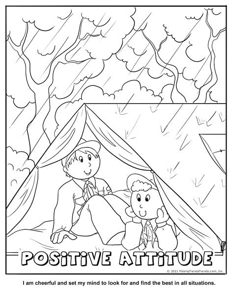 Scout Coloring Page free boy scout coloring pages
