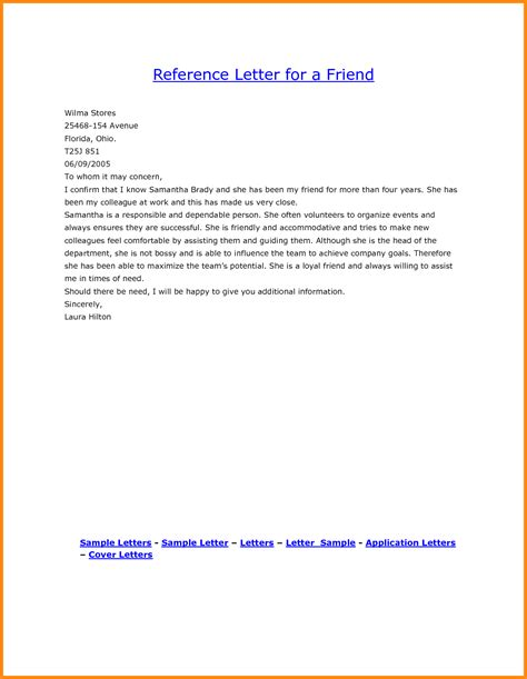 Reference Letter For A 10 Character Reference Letters For A Friend Driver Resume