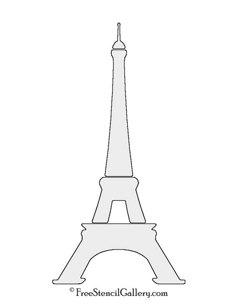 eiffel tower template eiffel tower stencil free stencil gallery