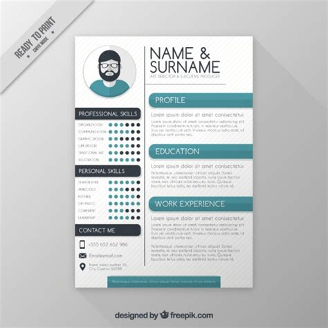 resume format freepik director resume template vector free