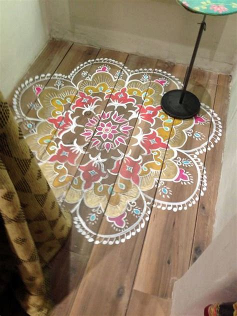 Painted Rug by Top 10 Stencil And Painted Rug Ideas For Wood Floors
