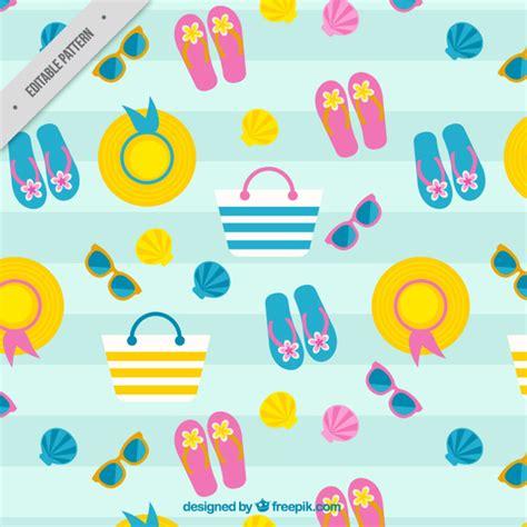 seamless pattern summer summer seamless pattern vector free download