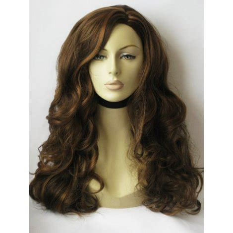 brown with blonde highlights wig brown wig with blonde highlights long wavy hope extra